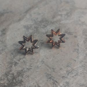 5 for $8 Rose Gold Star Cut Out Earrings